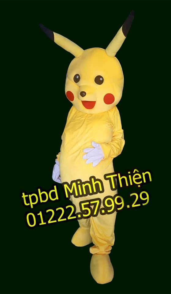 Cho Thuê Mascot Pikachu Giá Rẻ Tại Tphcm