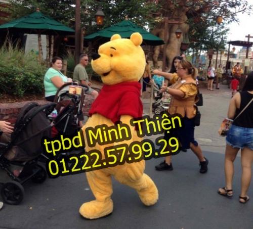 Bán Và Cho Thuê Mascot Gấu Pooh Giá Rẻ Ở Tphcm