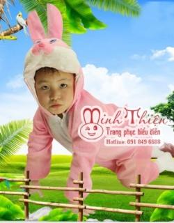 Bán và cho thuê đồ thú hở mặt thỏ hồng trẻ em tphcm