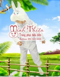 Bán và cho thuê đồ thú hở mặt thỏ trắng trẻ em tphcm